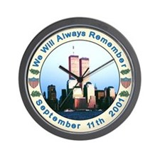 September 11th memorial Wall Clock
