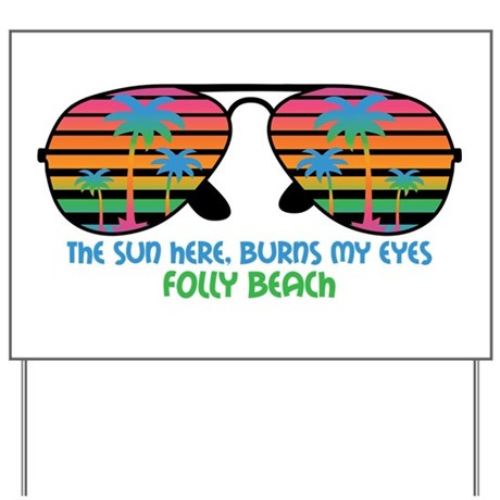 Folly Beach, South Carolina Beaches Yard Sign