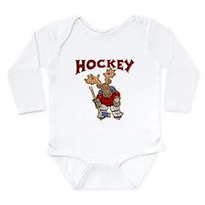 Cute Girls ice hockey Long Sleeve Infant Bodysuit