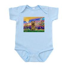 Guardian Angel Silky Terrier Infant Bodysuit