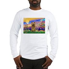 Guardian Angel Silky Terrier Long Sleeve T-Shirt