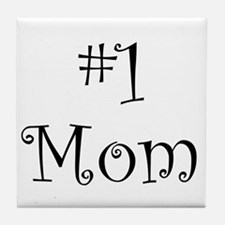 Number One Mom Tile Coaster