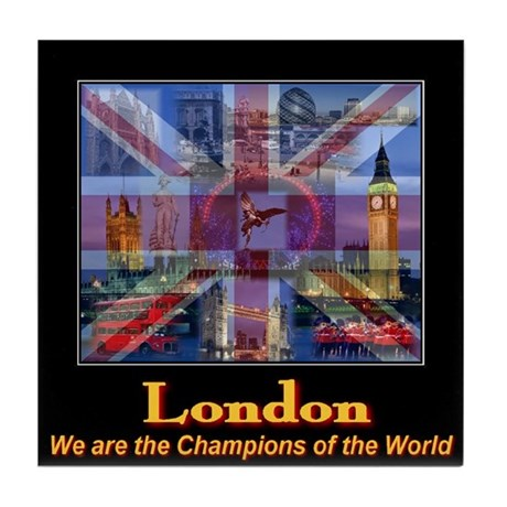 London 2012 Champions of the World Tile Coaster