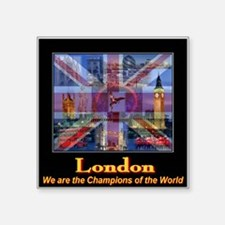 London 2012 Champions of the World Square Sticker