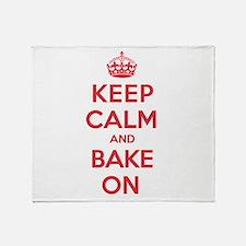Keep Calm Bake Throw Blanket