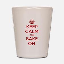 Keep Calm Bake Shot Glass