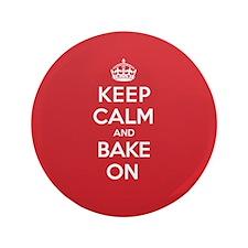 """Keep Calm Bake 3.5"""" Button"""