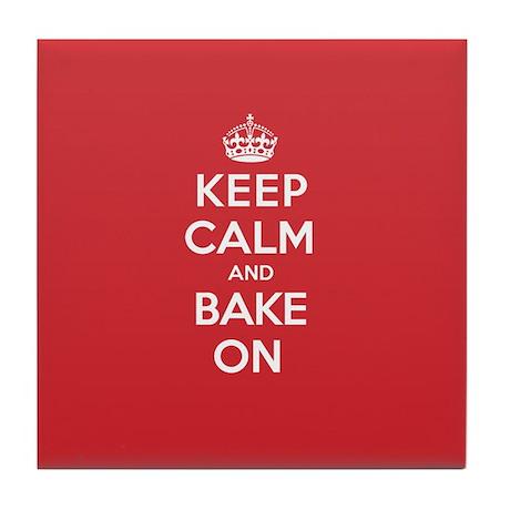 Keep Calm Bake Tile Coaster
