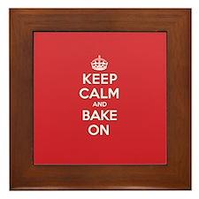 Keep Calm Bake Framed Tile