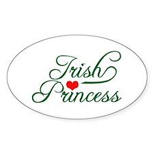 Irish Princess Oval Decal
