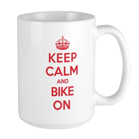 Keep Calm Bike Large Mug