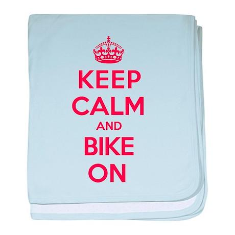 Keep Calm Bike baby blanket