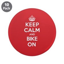 "Keep Calm Bike 3.5"" Button (10 pack)"