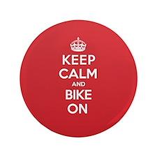"""Keep Calm Bike 3.5"""" Button"""