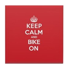 Keep Calm Bike Tile Coaster