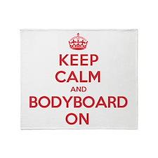Keep Calm Bodyboard Throw Blanket