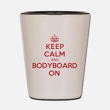 Keep Calm Bodyboard Shot Glass