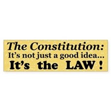 Constitution Bumper Car Sticker