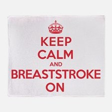 Keep Calm Breaststroke Throw Blanket
