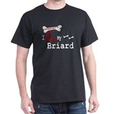 Briard Gifts Black T-Shirt