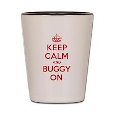 Keep Calm Buggy Shot Glass