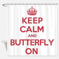 Keep Calm Butterfly Shower Curtain