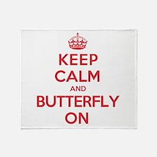 Keep Calm Butterfly Throw Blanket