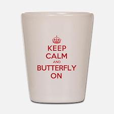 Keep Calm Butterfly Shot Glass