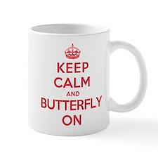 Keep Calm Butterfly Mug