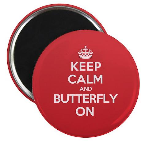 Keep Calm Butterfly Magnet