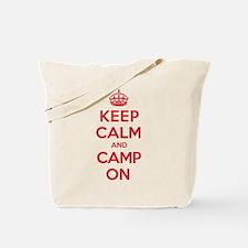 Keep Calm Camp Tote Bag