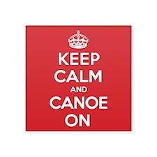 "Keep Calm Canoe Square Sticker 3"" x 3"""
