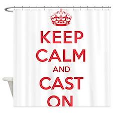 Keep Calm Cast Shower Curtain