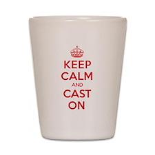 Keep Calm Cast Shot Glass