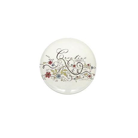 Creative Goddess Mini Button