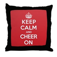 Keep Calm Cheer Throw Pillow