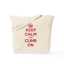 Keep Calm Climb Tote Bag