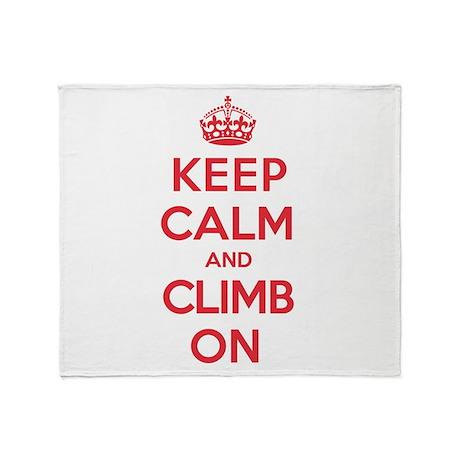 Keep Calm Climb Throw Blanket