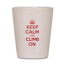 Keep Calm Climb Shot Glass