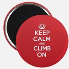 Keep Calm Climb Magnet