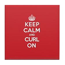 Keep Calm Curl Tile Coaster