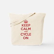 Keep Calm Cycle Tote Bag