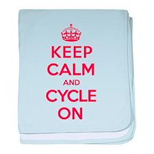 Keep Calm Cycle baby blanket