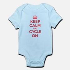 Keep Calm Cycle Infant Bodysuit
