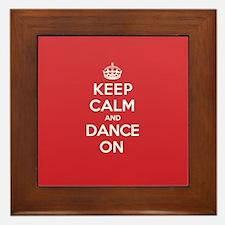 Keep Calm Dance Framed Tile