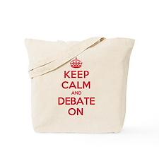 Keep Calm Debate Tote Bag