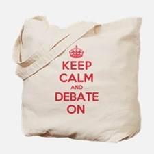 Keep Calm Debate Tote Bag