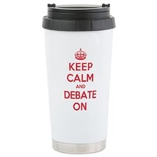 Keep Calm Debate Travel Mug