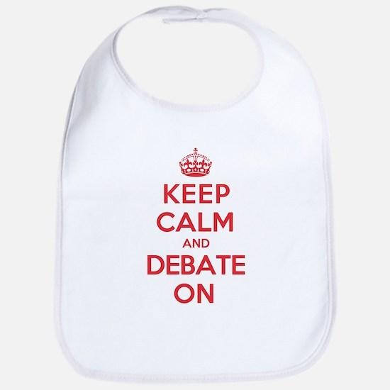 Keep Calm Debate Bib