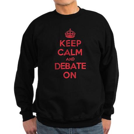 Keep Calm Debate Sweatshirt (dark)